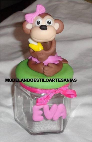5 Frascos Con Animalitos Souvenirs Porcelana Fria