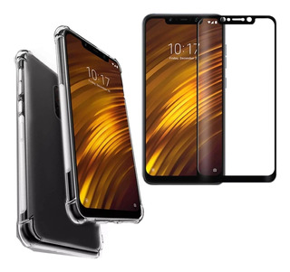 Capa Capinha Anti Shock + Pelicula 3d 5d Xiaomi Pocophone F1