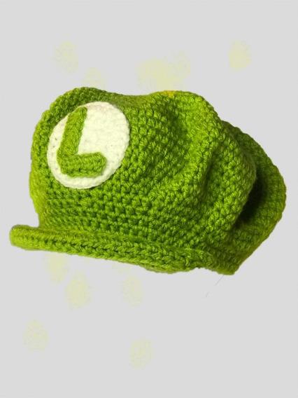 Gorro Luigui En Crochet