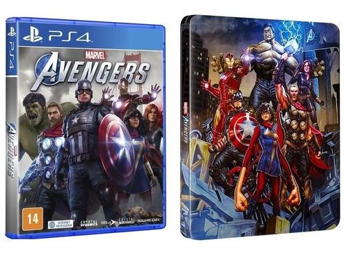 Marvel's Avengers + Steelbook Ps4 Mídia Física Lacrado + Nf