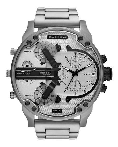 Relógio Diesel Mr Daddy Masculino Prata Dz7421/1kn