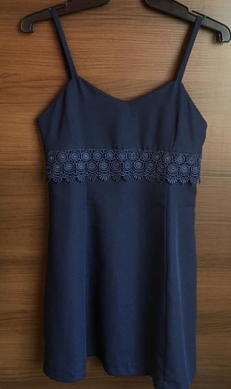 Vestido Curto Azul Marinho