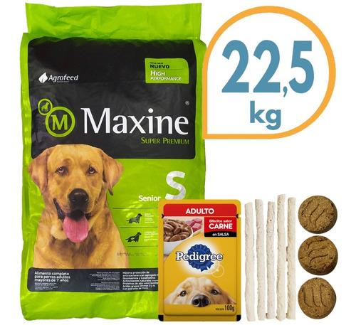 Imagen 1 de 2 de Comida Maxine Dog Perro Senior +7 Años 21 Kg + Regalo