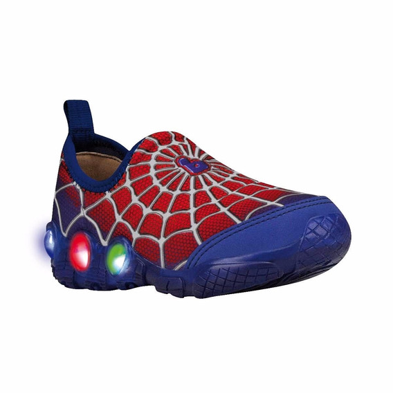 Zapatillas Led Luces Niño Spiderman