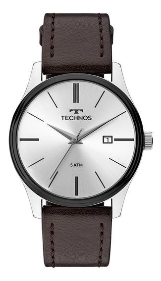 Relógio Technos Masculino Classic 2115mpp/1k Aço Couro