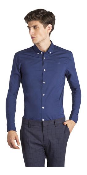 Camisa Bosnia Rio Cigala Azul Hombre Key Biscayne