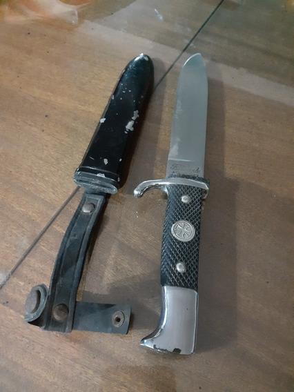 Antiguo Cuchillo Filtemple .tipo Bayoneta Vaina De Metal