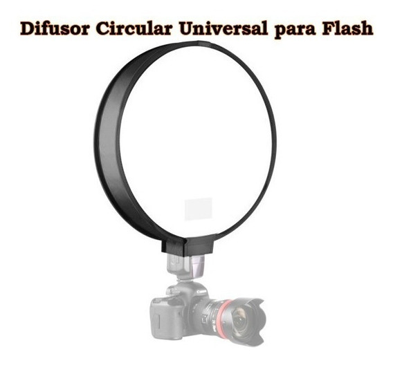 Difusor Circular Universal Para Flash Speedlight