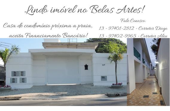 Linda Casa De Condomínio Lado Praia Belas Artes Em Itanhaém!