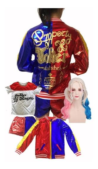 Disfraz Harley Quinn Deluxe Impreso En Espalda Envío Gratis