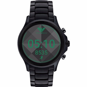 Emporio Armani Connected Art 5002 Smartwatch 46mm- Aço Preto