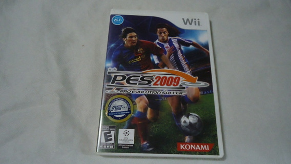 Pes 2009 Pro Evolution Soccer Original C/ Caixa E Manual Wii