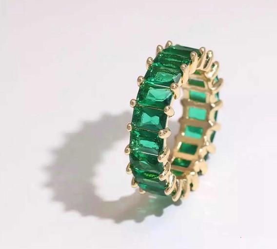 Anillo Zirconia Verde #6