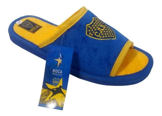 Boca Juniors Pantuflas Talle 39 Al 45 Con Licencia Oficial