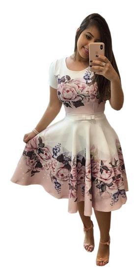Vestido Princesa Estampado F Gospel Fardamento Mais Cinto