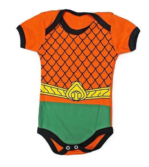 Body Bebê Aquaman Infantil Fantasia Heroi