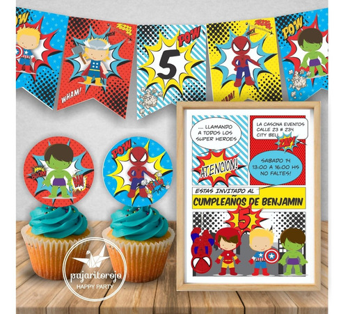 Kit Imprimible Super Heroes