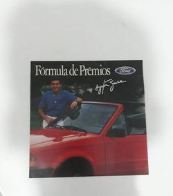 Folheto Propagan Ford Escort Conversível 1986 Ayrton Senna