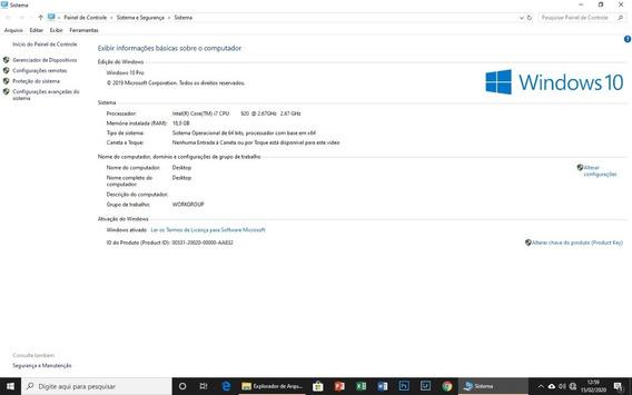 Desktop Intel I7, 18 Gb Ram, Ssd 500 Gb, Hd 500 Gb + Monitor