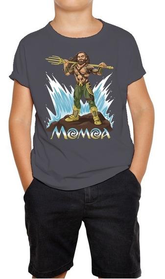 Camiseta Infantil Aquaman Jason Momoa Moana Waialiki Blusa