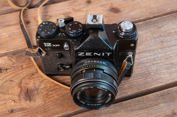 Camera Zenit Com Lente Helios
