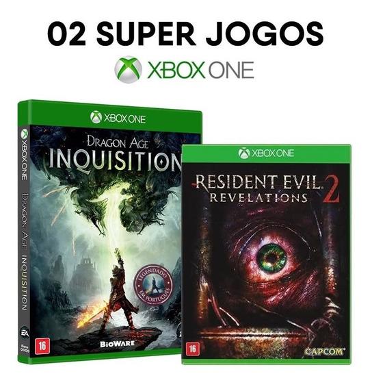 Dragon Age Inquisit. + Resident Evil 2 Rev Xbox One Lacrados