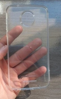 Capa Tpu Silicone Transparente Moto Z2 Play Xt1710 + P Vidro