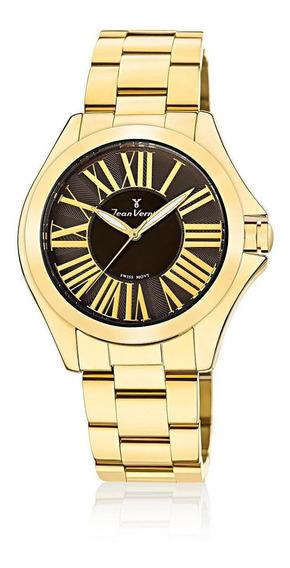 Relógio Pulso Jean Vernier Analógico Feminino Jv01125