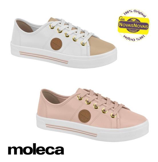Tênis Casual Moleca Feminino Rosa Ou Branco 100% Original