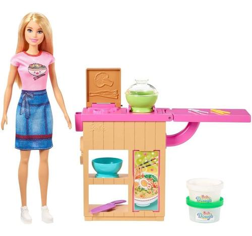 Muñeca Barbie Set Cocina De Fideos Ghk43
