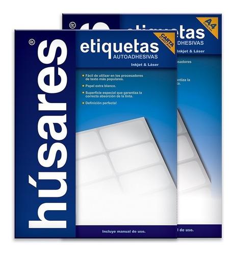 Etiqueta Autoadhesiva A4 Húsares H34130 6,40x2,54 Cm X 100 U