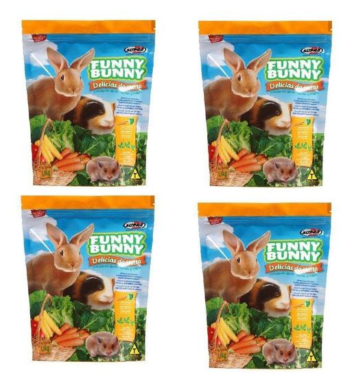 Ração P/ Coelho Funny Bunny 7,2 Kg 4 X 1,800 Kg
