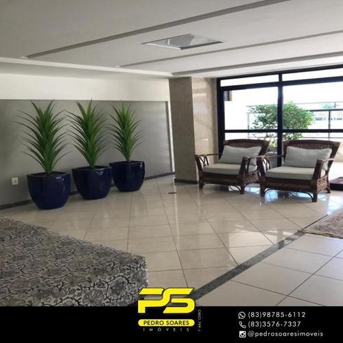 Apartamento Com 3 Dormitórios À Venda, 130 M² Por R$ 915.000 - Cabo Branco - João Pessoa/pb - Ap4238