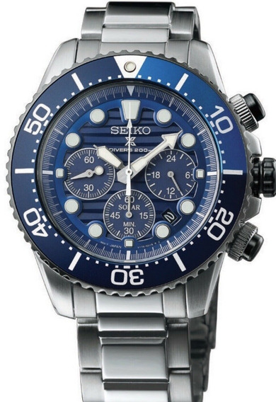 Relogio Seiko Prospex Solar Diver Ssc675p1