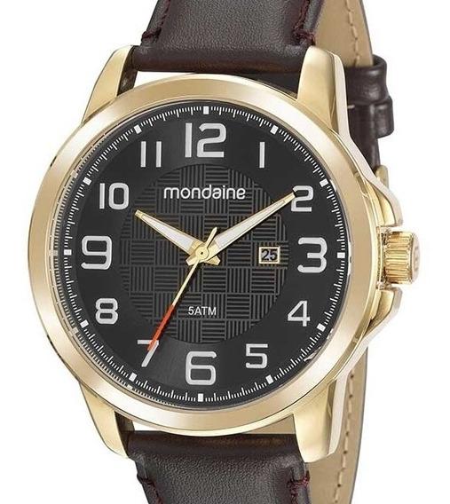 Relógio Mondaine Masculinno Couro 99426gpmvdh2