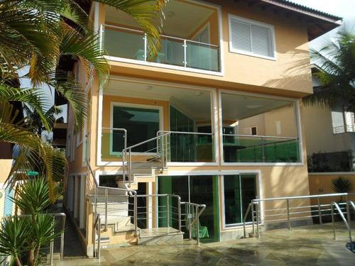 Casa Com 6 Dormitórios À Venda, 800 M² Por R$ 8.950.000,00 - Condomínio Hanga Roa - Bertioga/sp - Ca0149