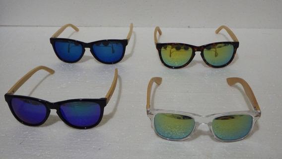 Óculos Feminino Madeira Bambu Sol Uv400 Quadrado - Novo!