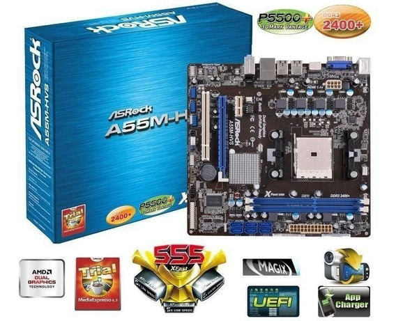 Tarjeta Madre Asrock A55m-hvs Nueva Pa Amd Dual Core 20vrds
