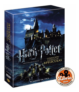 Box Set Harry Potter Colección 8 Dvd Original Libria Store
