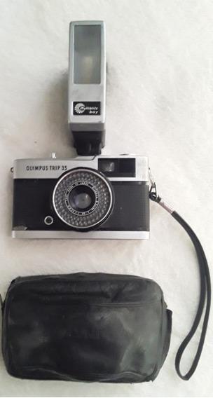 Máquina Fotográfica, Olimpus Trip 35, Analógica, Único Dono!