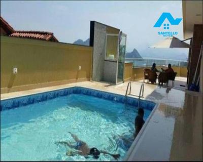 Casa A Venda Em Niterói, São Francisco, 5 Dormitórios, 3 Suítes, 6 Banheiros, 4 Vagas - Ca00069 - 33304929