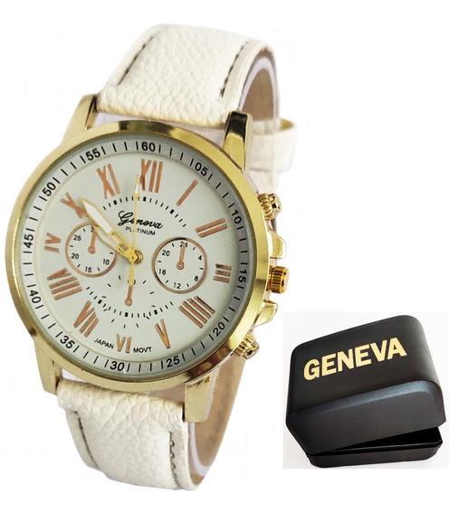 Relógio Feminino Barato Geneva Com Caixinha