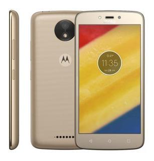 Celular Moto C Plus Android 7.0 - Dourado