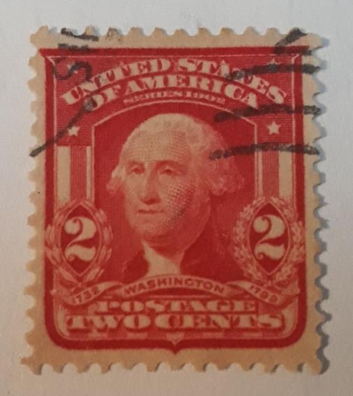 Estampilla Estados Unidos George Washington 2 Centavos 1902