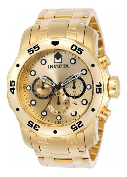 Relógio Invicta Pro Diver 0074 Ouro18k Original Masculino Nf