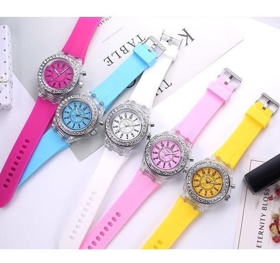 Reloj Led Colores Silicona Ideal Para Regalo