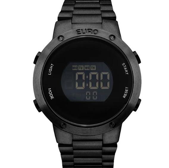 Relógio Euro Feminino Preto Digital Eubj3279ab/4p
