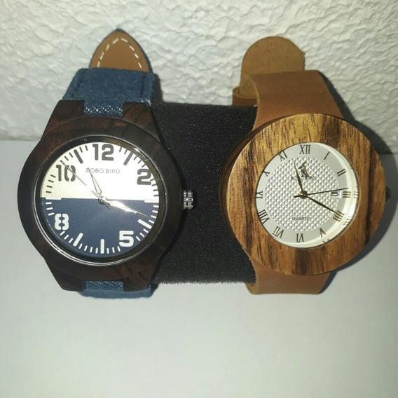 Kit 2 Relógios Feminino Bobo Bird Madeira Ecológica