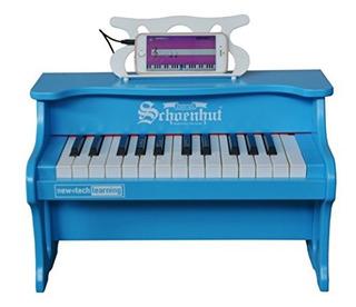 Schoenhut 25 Key Digital Table Top Juguete Piano Azul Talla