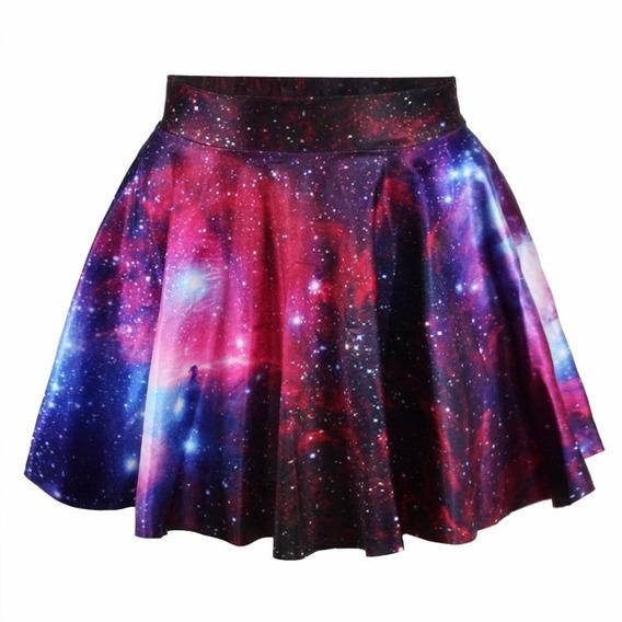 Falda Corta Juvenil Galaxy Purple Mujer Girls Disponible